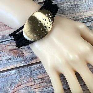 Jewelry - Black cord bracelet with magnetic clasp